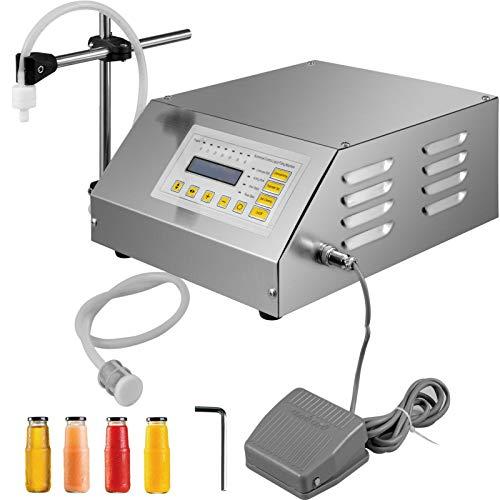 VEVOR Máquina de Llenado de Líquidos de 2ML-3500ML, Llenadora de Botellas, GFK-160 Modelo Actualizado, Embotelladora Automática, con Pantalla LCD, Llenadora de Líquidos, Bomba de Control Digital