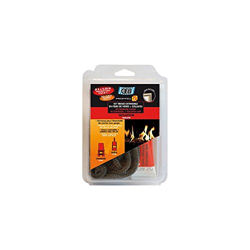 GEB 821592 Kit de Tresse Ø 7/8 mm 2,5 m + Collafeu Tube de 20 ml Clair