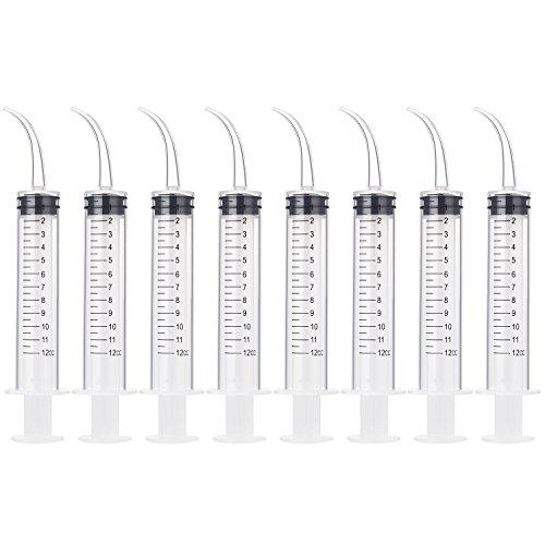 8 Pack Disposable 12cc Dental Syrin…