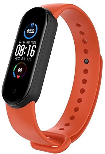 Gransho Correa de Reloj Reemplazo Compatible con Xiaomi Mi Band 5 / Xiaomi Mi Band 6 / Amazfit Band 5, la Correa de Reloj Watch Band Accessorios (Pattern 2)