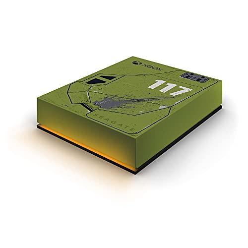 Seagate Game Drive for Xbox: Halo Infinite SE, 5 TB, Unidad de Disco Duro Externa - 3,5', USB 3.2 Gen 1 para Xbox One y Xbox Series X S, iluminación LED RGB y Servicios Rescue (STKX5000400)