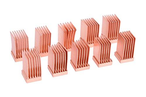 Alphacool 17425 GPU RAM Copper Heatsinks 6,5x6,5mm - 10pcs Air Cooling Passive Coolers