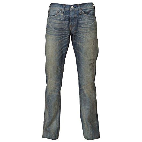EVISU Waseda Faded Blue Herren Jeans Blau