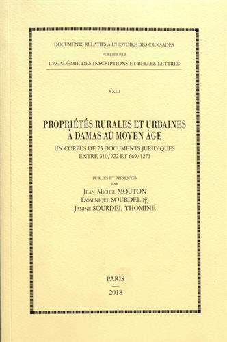 Propriétés rurales et urbaines à Damas au Moyen Age