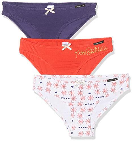 Skiny Mädchen Multipack Girls Rio Slip 3er Pack Unterhose, Mehrfarbig (Snow Selection 2176), (Herstellergröße: 164)