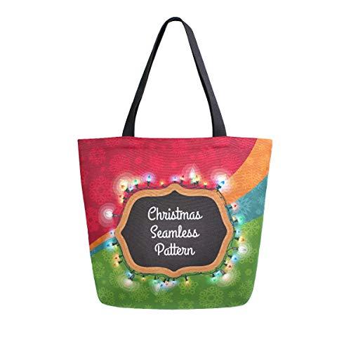 Mnsruu Bolsa de la compra de Navidad luz cocina reutilizable bolsas de...