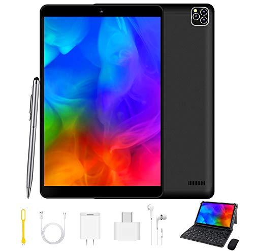 4G Tablet 10.1 Pollici, Android 9.0 GO Google GMS certificato , 3GB RAM+32GB ROM, Type-C 8000mAh 8MP Tablet PC Offerte Con Tastiera Quad Core Tablets Dual SIM Bluetooth/ Netflix/Google Play con Wifi