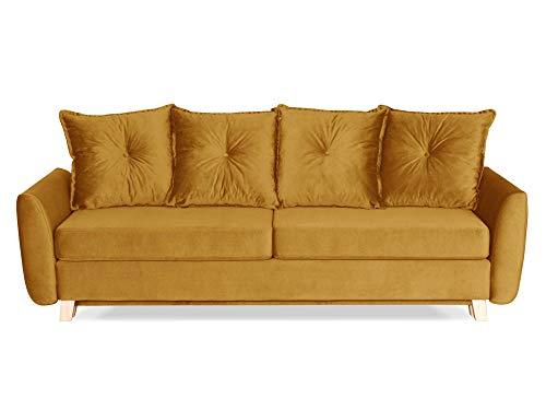 Canapé droit 3 places Velours Design