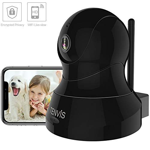 TENVIS Pet Camera - Dog Camera Wireless Indoor Security Camera w/Motion Detection, Two-Way Audio, Enhanced Night Vision, Home Surveillance Camera with MicroSD Slot, iOS/Android