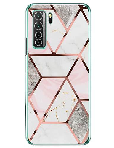 Kompatibel mit Huawei P40 Lite 5G Hülle Silikon Klar Weiche Schutzhülle Bumper P40 Lite 5G Abdeckung Transparent Ultra Dünn Stoßfest Kratzfest Staubdicht Handyhülle für Huawei P40 Lite 5G Handy