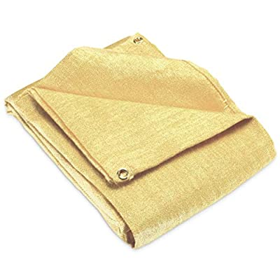 Fiberglass 4' x 6' Welding Blanket, Cover, Retardant | Fireproof. Thermal resistant insulation. Brass grommets for easy Hanging and Protection