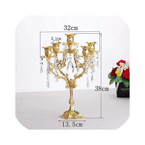 Goods-Store-uk Kaarsenhouders Europese Kaars Strand Kaarslicht Diner Decoraties Goud Kristal Kandelaar
