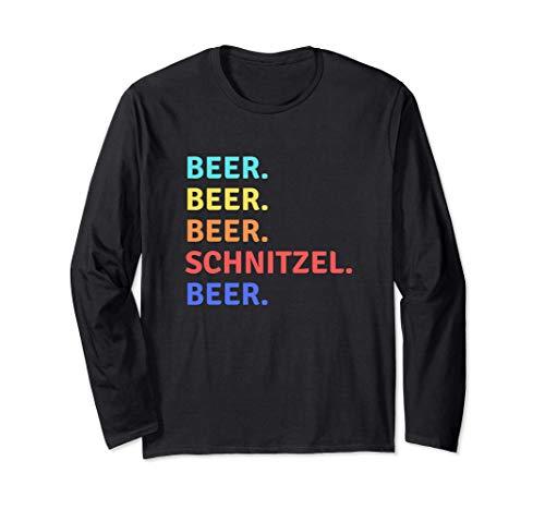 Bier Schnitzel Oktoberfest 2019 Deutscher Trinkteam Tank Langarmshirt