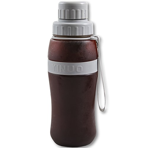 EZE Homegoods Cold Brew Iced Coffee Maker & Iced Tea Maker - 28 Ounces in Convenient Travel Mug with airtight lid