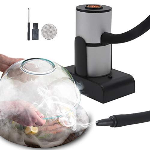 CLFYOU Tragbare Lebensmittel Raucher Rauchmaschine mit Handrauch Infuser für Cocktail Essen Trinken Rauchen Babebecue