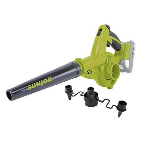 Sun Joe 24V-WSB-LTE 180-MPH 92-CFM Max Cordless Rechargeable Multi-Purpose Workshop Blower, Kit (w/ 2.0-Ah Battery + Charger)