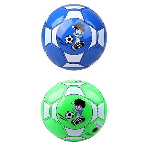 Amuzocity 2X PU 6'Niños Niños Deportes Fútbol Fútbol Lindo Al Aire Libre Pelota Deportiva