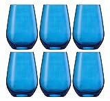 Schott Zwiesel Wasserglas, Glas, blau, 28.7 x 19.6 x 13.3 cm, 6-Einheiten
