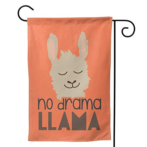 No Drama Llama Garden Flag,Double Sided Revolution Movement Equality Social Polyester Flag Banner for Home Garden Yard Decorative 28