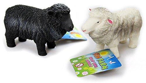KT Gummi Stretchy Beany Bauernhof Tier Stress Reliever Squishy Spielzeug - Schaf - MATSCHIG