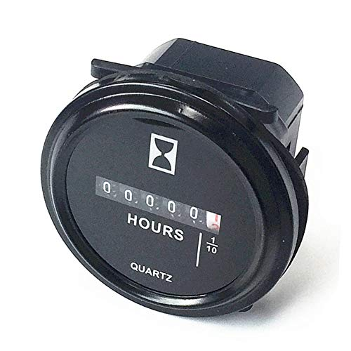Qiorange 6V-80V DC / AC-runde Quarz-Stunden-Messinstrument-Lehre für Boots-Auto-LKW Motoren (Circle)
