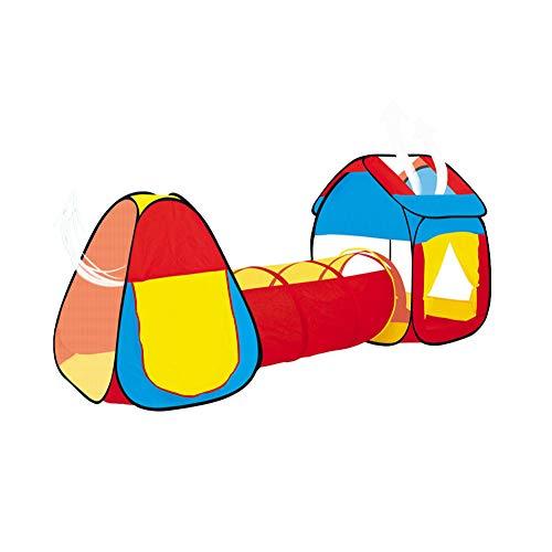 XYLUCKY Tienda de Juegos para niños con túnel (Juego de 3 Piezas), Gran Regalo para niños y niñas, niños pequeños y bebés, Ligero, fácil de Instalar (Bolas no Incluidas)