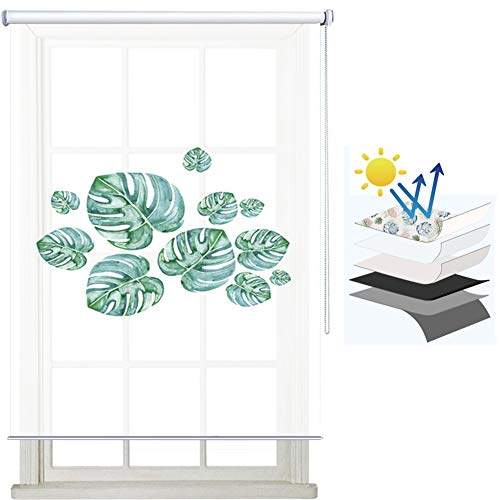 HJWMM Estores Enrollables Screen, Persianas Resistencia Al Desgarro Estampado Floral Decoraciones de Interior, for Terraza Restaurante Club, Personalizable ( Color : A-Translucent , Size : 60x180cm )