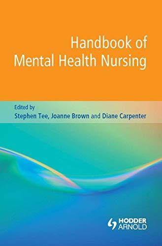 41zaxa0m06L - Handbook of Mental Health Nursing