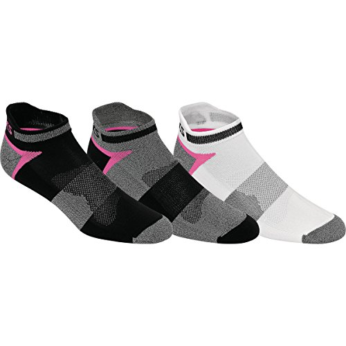 ASICS Men's Quick Lyte Cushion Single Tab Pink Ribbon Socks, Large, Black Assorted