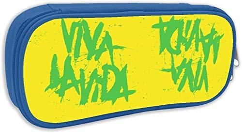 Viva La Vida Pencil Case Pen Bag Pouch Stationary Case for School Work Office