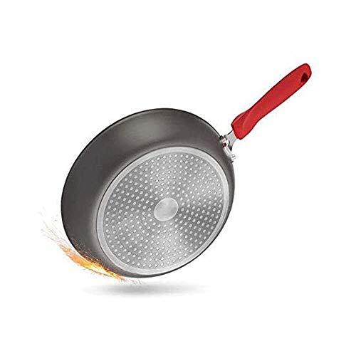 HDCDKKOU Propósito general para la cocina de inducción de gas de 28 cm de hogar, utensilios de cocina de acero inoxidable Wok Wok Sartén con tapa de vidrio templado HDCDKKOU