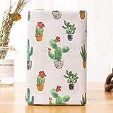 ONECHANCE Material del paño DIY del paño del mantel de la tela del lino del algodón por el metro 100x150cm Color Cactus de tinta Size 1 metro
