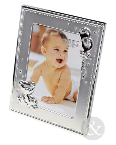Just Contempo, Cornice, Silver Baby Picture Frame, 7' x 5' cm