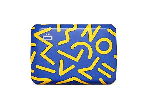 Ögon Designs - Cartera de aluminio V2 Stockholm - Cerradura de metal y resistente al agua - Tarjetero de bloqueo RFID - Hasta 10 tarjetas y billetes, Estilo zigzag, Talla única,