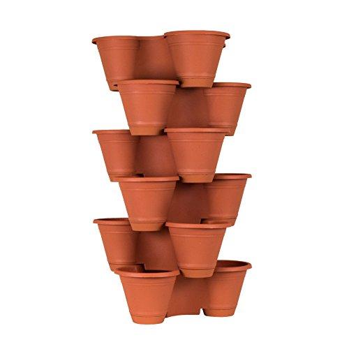 6 Tier Stackable Vertical Plastic Planter Mini Garden Herb Planter Indoor/Outdoor Use