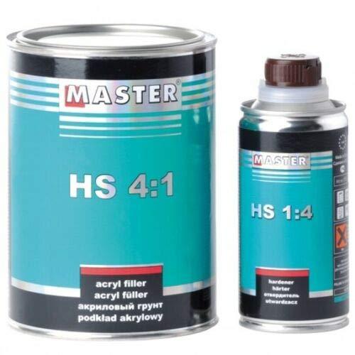 Troton 2K Master Acryl Füller 1L grau 4:1 Primer Grundierung HS Filler Ink. Härter