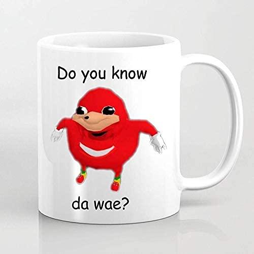 DJNGN Taza inspirada en Meme de los nudillos ugandeses Tumblr Reddit Youtube Geek Gaming Mug Gamer
