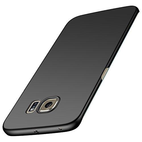 Anccer Funda Samsung Galaxy S6 Edge Plus [Serie Colorida] [Ultra-Delgado] [Ligera] Anti-rasguños Estuche para Case Samsung Galaxy S6 Edge+ (Negro Liso)