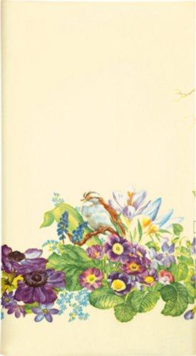Mitteldecken Frühlingskranz/Frühling/Blumen/Vogel aus Airlaid 80x80cm