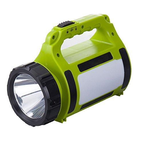 Led-handschijnwerper, oplaadbare acculamp, dimbaar, 5 W, 3 lichtmodi, 2 helderheidsniveaus, 2200 mAh, powerbank, handlamp, USB-kabel, incl. IPX4 waterdicht, schijnwerper, werklamp