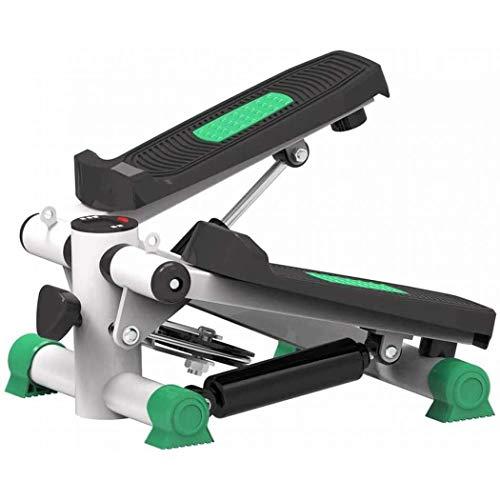 anking Máquina de Step Swing Stepper con Cintas de Entrenamiento para Profundidad Musculatura, Máquina de Pasos hidráulica, Equipo de Gimnasia doméstico sin instalación silenciosa,Verde