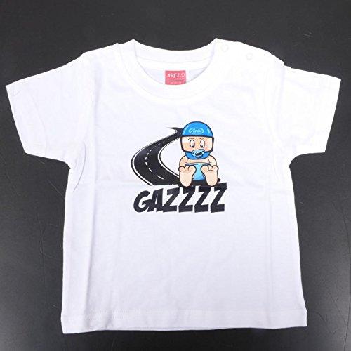 Générique Tee Shirt Blanc Gazz pour Bébé Motard Taille 12-18 Mois Manches Courte Neuf Moto