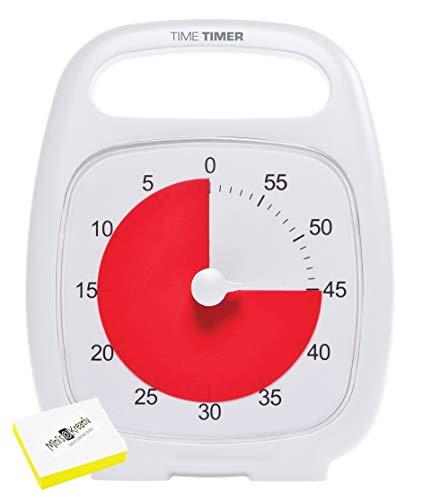 Time Timer Más 60 minutos de reloj blanco para la gestión del...