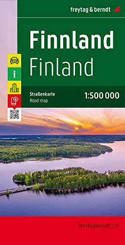 Finlandia, mapa de carreteras. Escala 1:500.000. Freytag & Berndt.: Wegenkaart 1:500 000: 6401 (Auto karte)