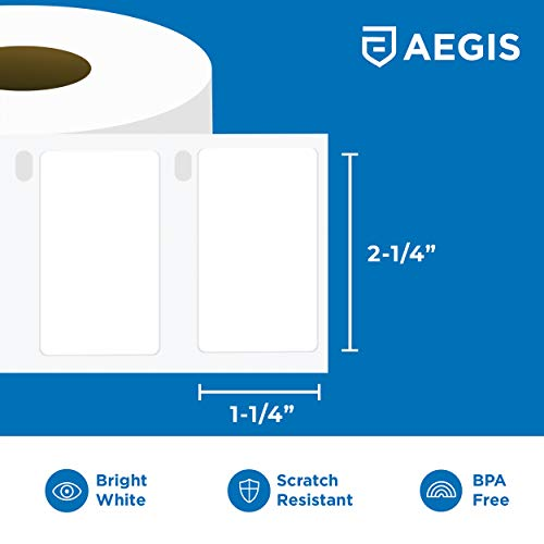 "Aegis - Compatible 30334 (2-1/4"" X 1-1/4"") Direct Thermal Labels Replacement for DYMO 30334 Barcode, UPC, FBA - for Rollo, Labelwriter 450, 4XL & Zebra Desktop Printers (12 Rolls) Photo #3"
