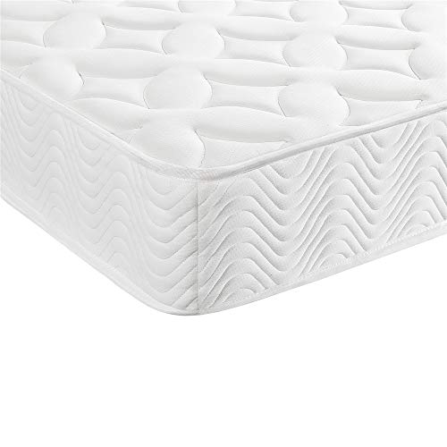 Yaheetech 4ft6 Double Mattress Pocket Sprung Mattress Breathable Knitting Fabric 9-Zone Orthopaedic Mattress Medium Firm 135x190x20CM