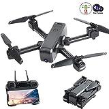 UPANV Drone avec caméra 4K, positionnement du Flux Optique Double caméras Smart Follow WiFi FPV Drone avec caméra HD 4K Grand Angle réglable à Distance