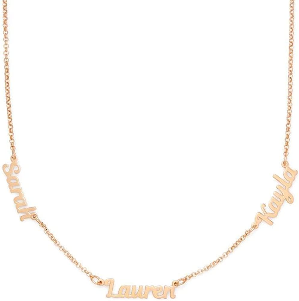 Custom Max Max 58% OFF 69% OFF Rose Tone Three Name Inches Necklace 16 Family