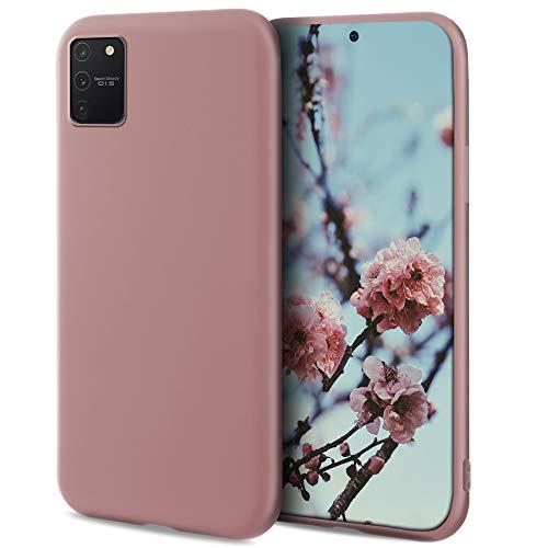 Moozy Minimalist Series Funda Silicona para Samsung S10 Lite, Rosa Palo con Acabado Mate, Cover Carcasa de TPU Suave y Fina