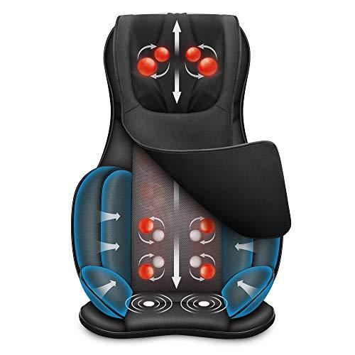 Snailax Full Body Massage Chair Pad -Shiatsu Neck Back Massager with Heat & Compression, Kneading...